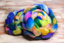 "Load image into Gallery viewer, ""Atomic Rainbow"" Roving - Fine Merino"
