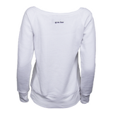 Gym Bae Wide Neck Sweater - White