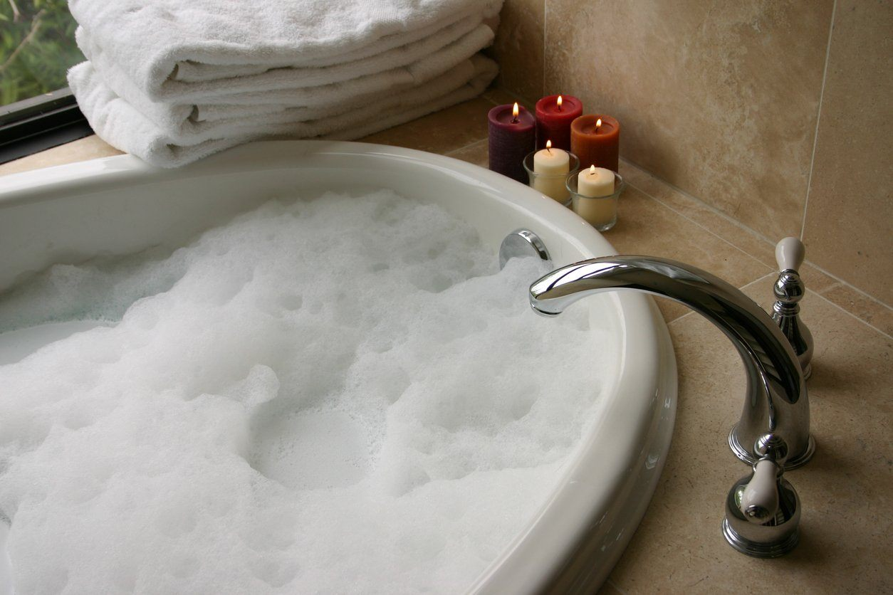 Pamper yourself before bed with a bubble bath