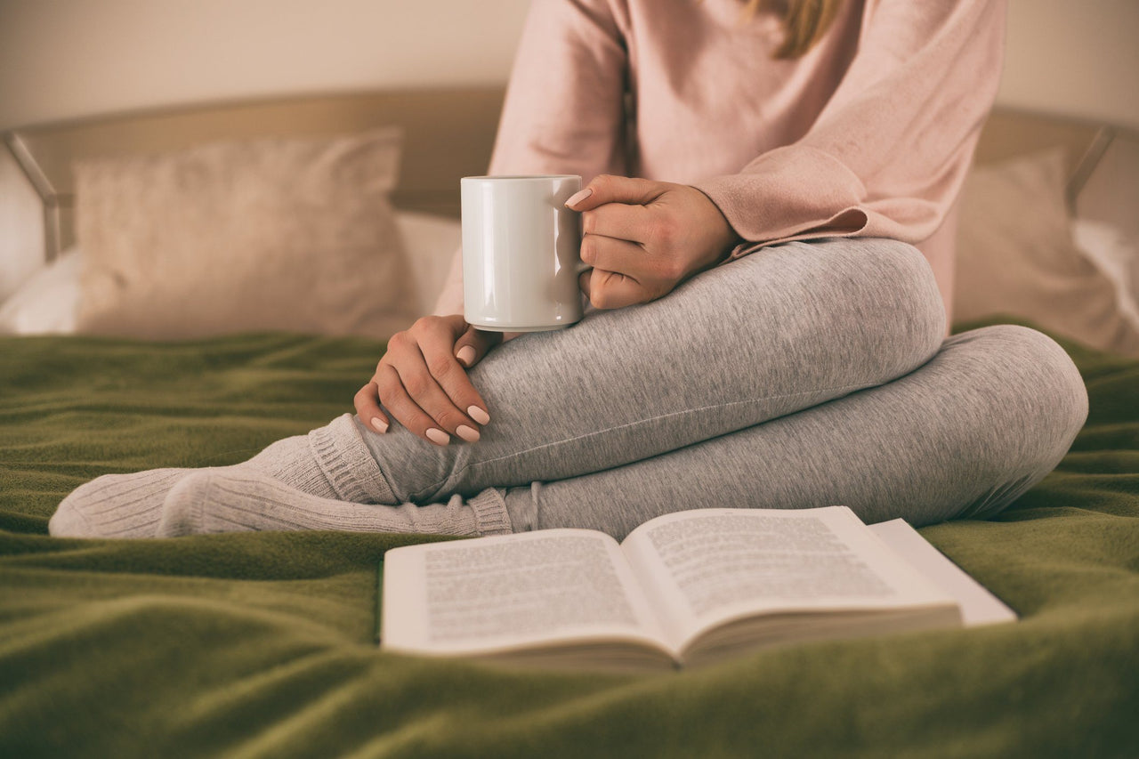 Relax when you can't sleep with a warm drink and a book