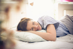 woman at peace when her sleep, dreams, and safety are in balance
