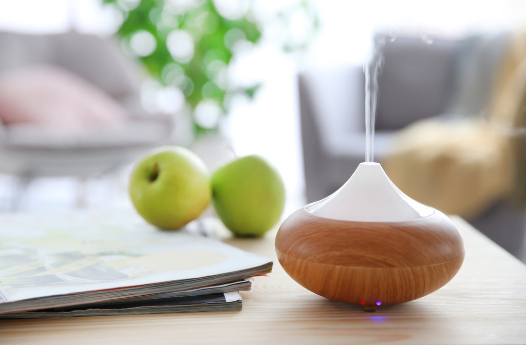 aromatherapy diffuser on table with blurred background