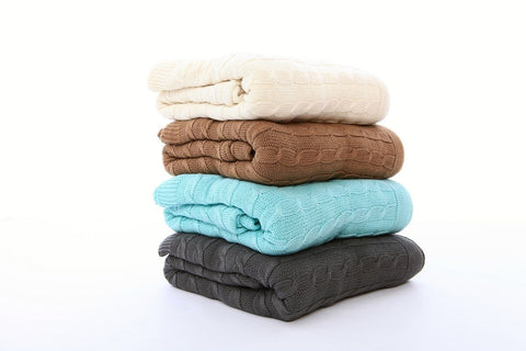 Nest Bedding® Organic Cotton Cable Knit Throws , Bedding - Nest Bedding, Nest Bedding Organic Mattress & Bedding Stores | Memory Foam Beds  - 1