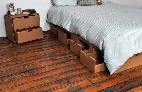 Bedigami The Cardboard Platform Bed Nest Bedding