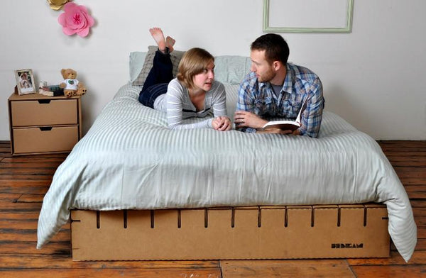 Bedigami, The Cardboard Platform Bed. , Foundations - Nest Bedding Organic Mattress & Bedding Stores | Memory Foam Beds, Nest Bedding Organic Mattress & Bedding Stores | Memory Foam Beds  - 1