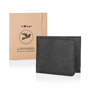 PAPERO Extremely Flat Paper Wallet | RAVEN | Money bags with integrated RFID protection