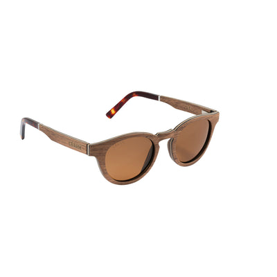 Sonnenbrille Vollholz 100% Recycled Material- Kastanien Aus Irland