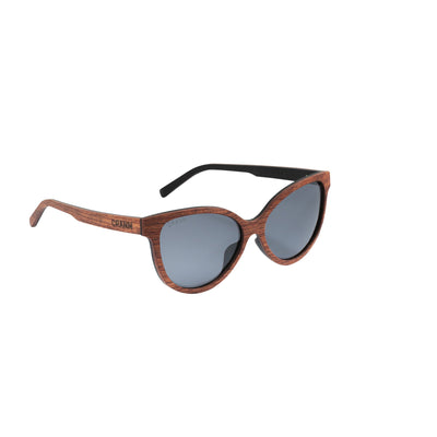 Sonnenbrille Vollholz 100% Recycled Material- Rosenholz Aus Irland