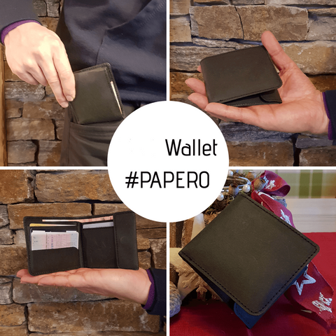 PAPERO Extremely Flat Paper Wallet | RAVEN | Purse easy with integrated RFID protection