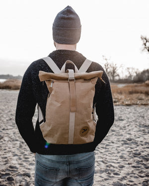 PAPERO Backpack from paper | COUGAR MINI 13 l | washably, robustly, water resistantly, vegan ♻ with lasting effect