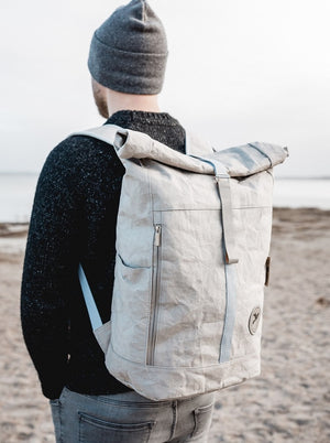 PAPERO backpack YETI is made of washable Kraft paper ♻ | lightweight, sturdy, and water resistant sustainable