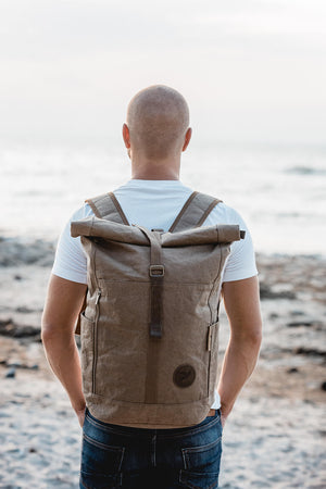 "PAPERO Backpack ""Yeti"" Unisex paper, robust, waterproof vegan ♻Renewable material - PAPERO - bird"
