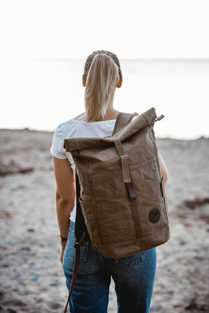 Backpack made of paper daypack messenger bag women and men vegan