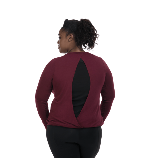Lola Getts Long Sleeve Peek A Boo- Cabernet-Black