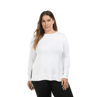 Lola Getts Side Slit Long Sleeve-White