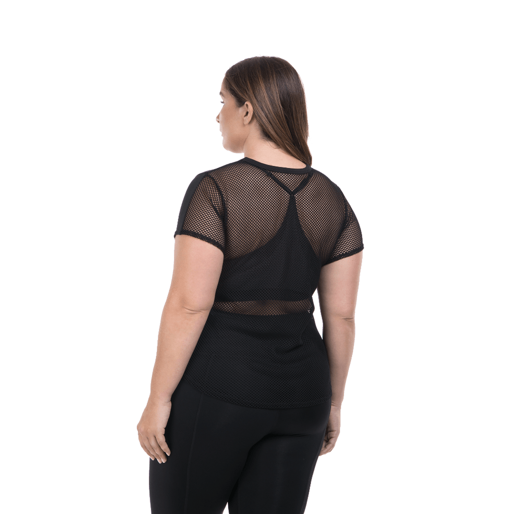 Lola Getts SS total back mesh- Black