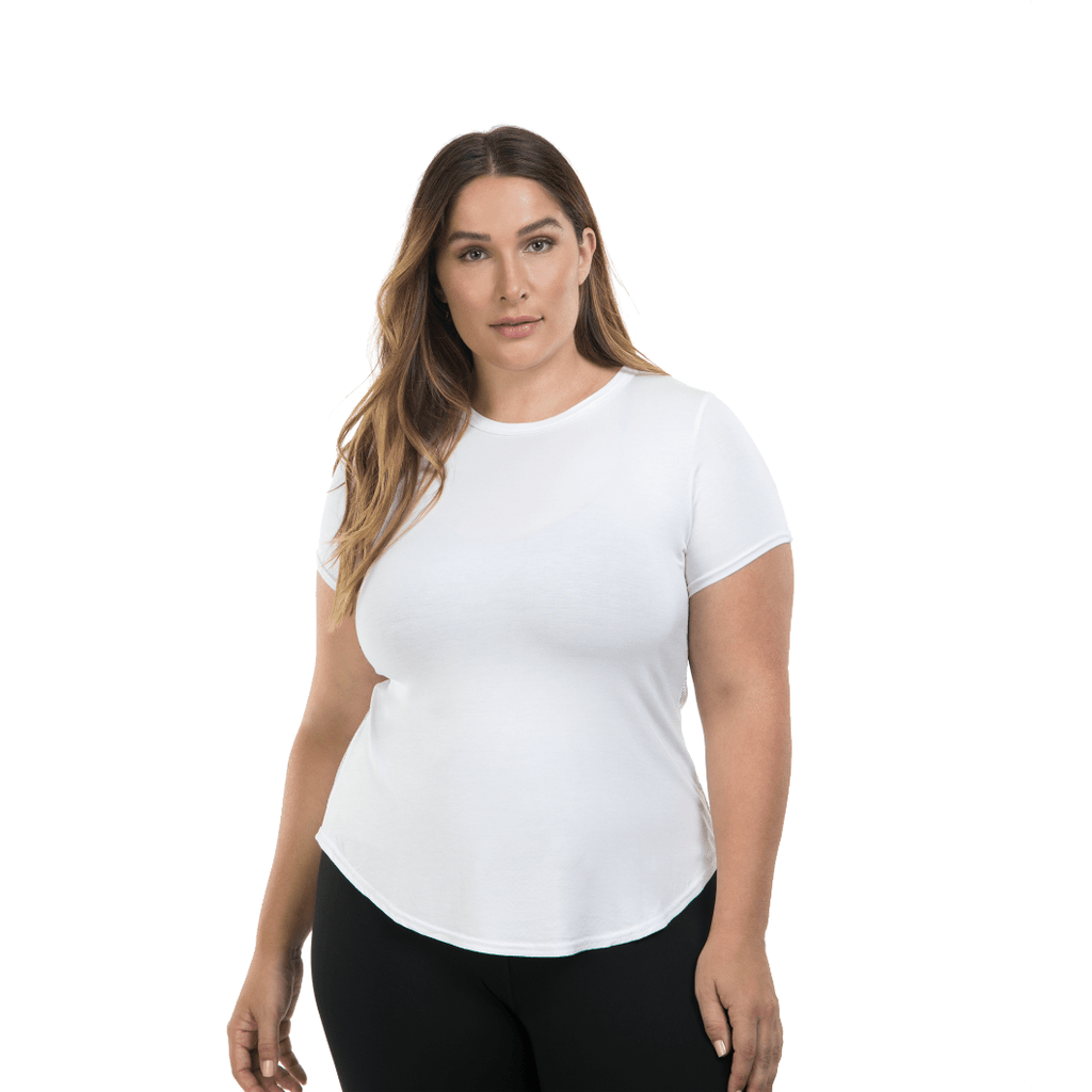 Lola Getts SS total back mesh - White