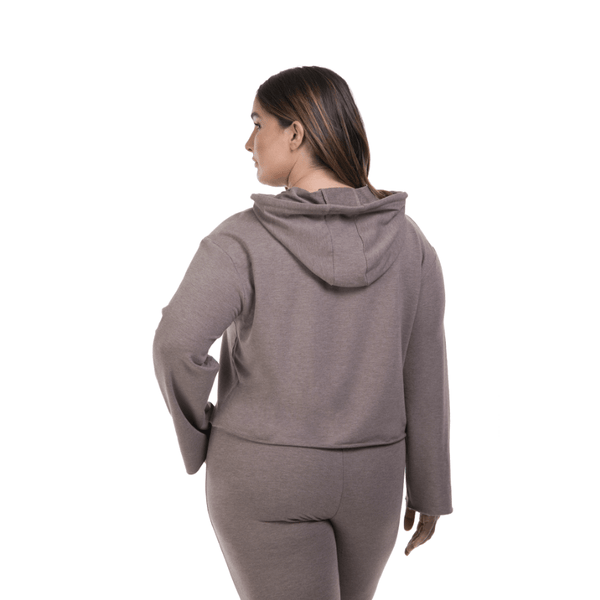 Lola Getts Versatile Semi Cropped Hoodie-Summer Toasted
