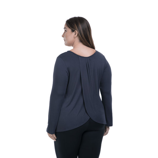 Long Sleeve Flutter Back - Steel