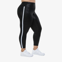 Hi-Rise Leggings - Midnight Splash with Side Stripe