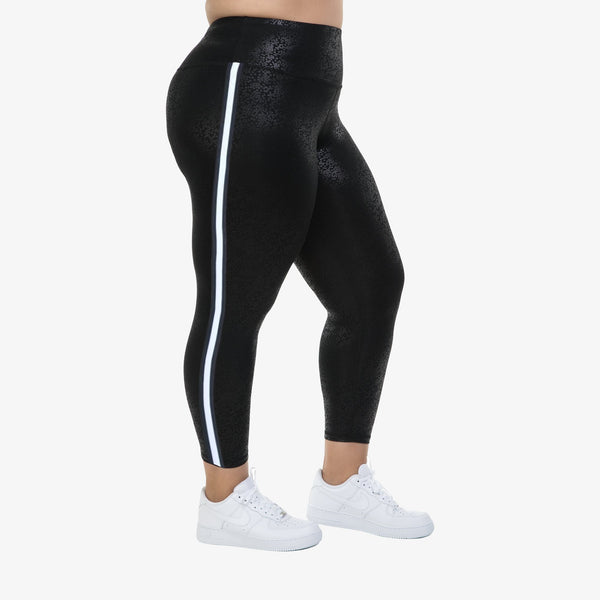 Hi-Rise Leggings with side stripe -Midnight Splash
