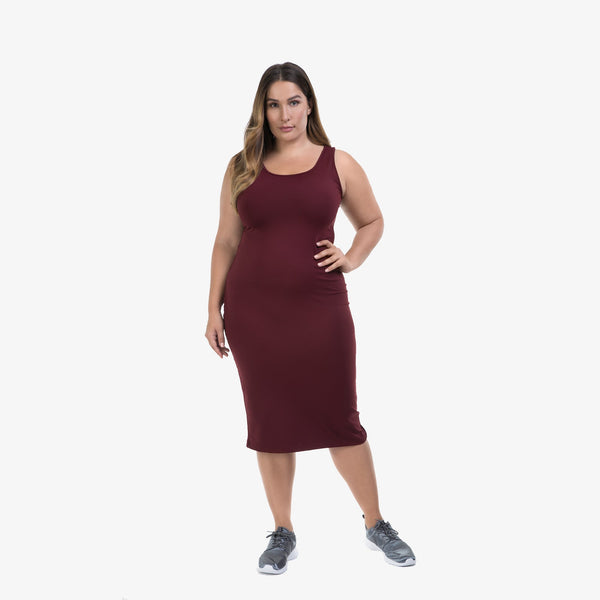 Lola Getts Tank Dress - Cabernet