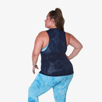 Muscle Tank - Navy Leaf