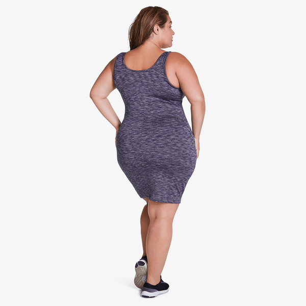 Short Tank Dress - Purple Zig Zag