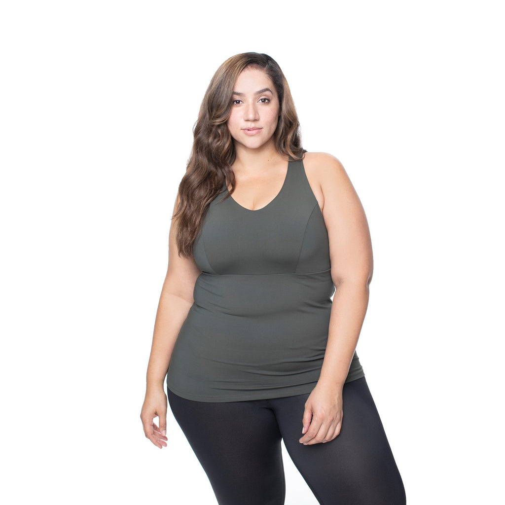 fcb98d56 Lola Getts All in One Tank|The Best Full Coverage Plus Size Workout Tank Top