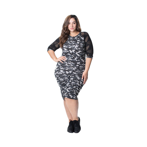 Short Sleeve Dress - Camo