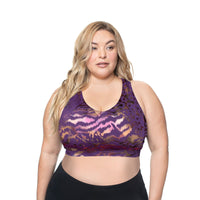 Bralette - Purple Animal Print