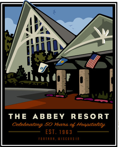The Abbey Resort 50th Anniversary Offset Print