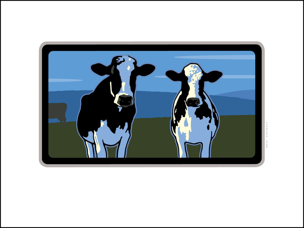 2 Holsteins Digital Studio Print