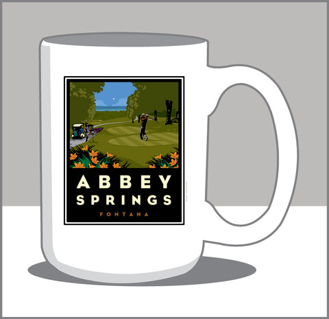 000 Abbey Springs 15 oz Coffee Mug- Coffee Time then Tee Time