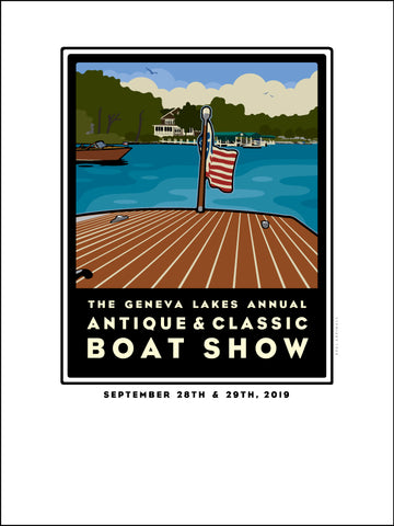 0 Lake Geneva Antique & Classic Boat Show Offset Print 2019