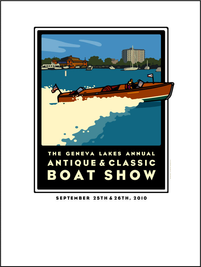 7A Lake Geneva Antique & Classic Boat Show Offset Print 2010