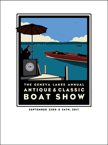 01A Lake Geneva Antique & Classic Boat Show 2017 Offset Print