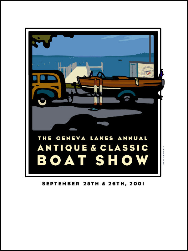 9G Lake Geneva Antique & Classic Boat Show Offset Print 2001