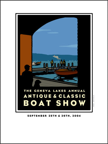 9E Lake Geneva Antique & Classic Boat Show Offset Print 2004