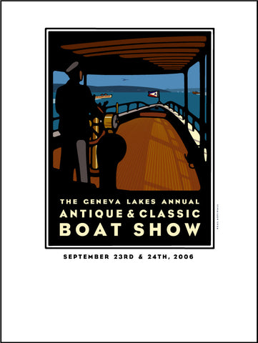 9C Lake Geneva Antique & Classic Boat Show Offset Print 2006