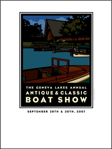9B Lake Geneva Antique & Classic Boat Show Offset Print 2007