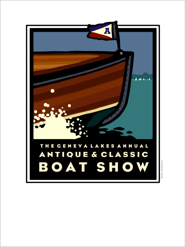 Lake Geneva Antique & Classic Boat Show Offset Print 1999