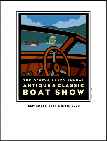 8A Lake Geneva Antique & Classic Boat Show Offset Print 2009