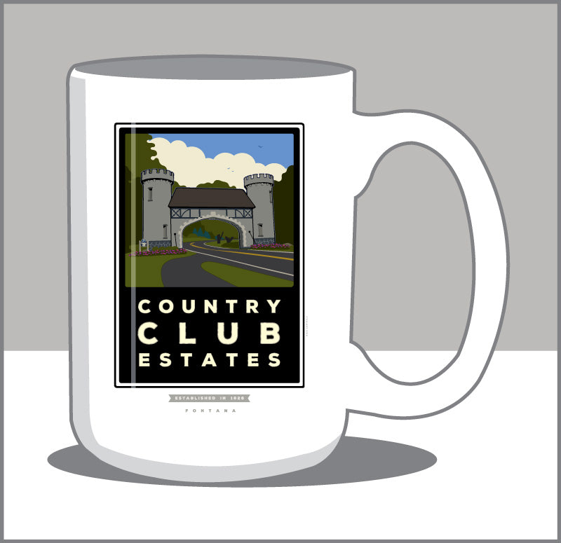 Country Club Estates 15 oz Coffee Mug- Only in Fontana