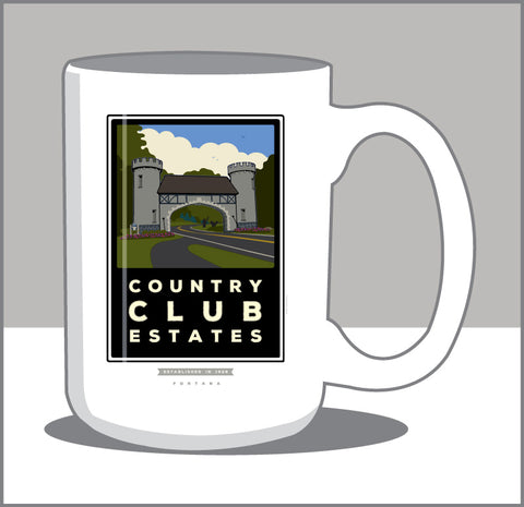 00 Country Club Estates 15 oz Coffee Mug- Coffee Time then Tee Time