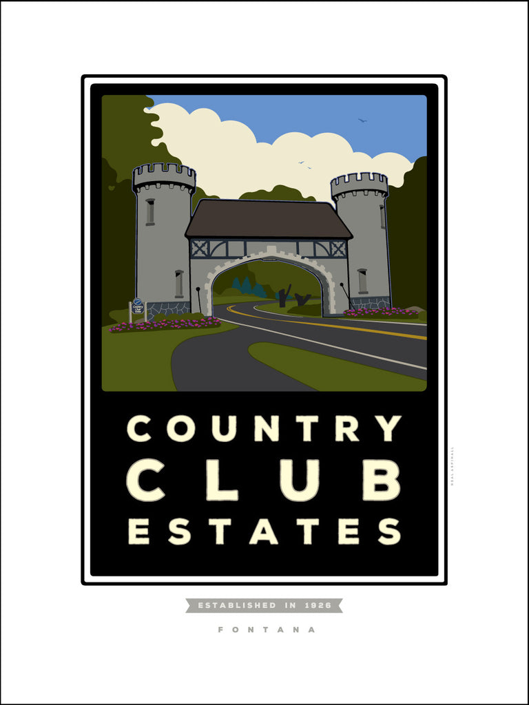 0011AA Country Club Estates Castle Digital Studio Print