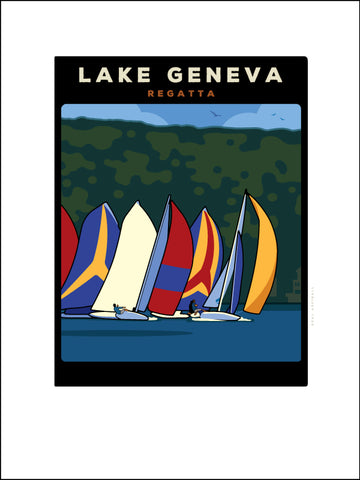 00 Lake Geneva Regatta Digital Studio Print