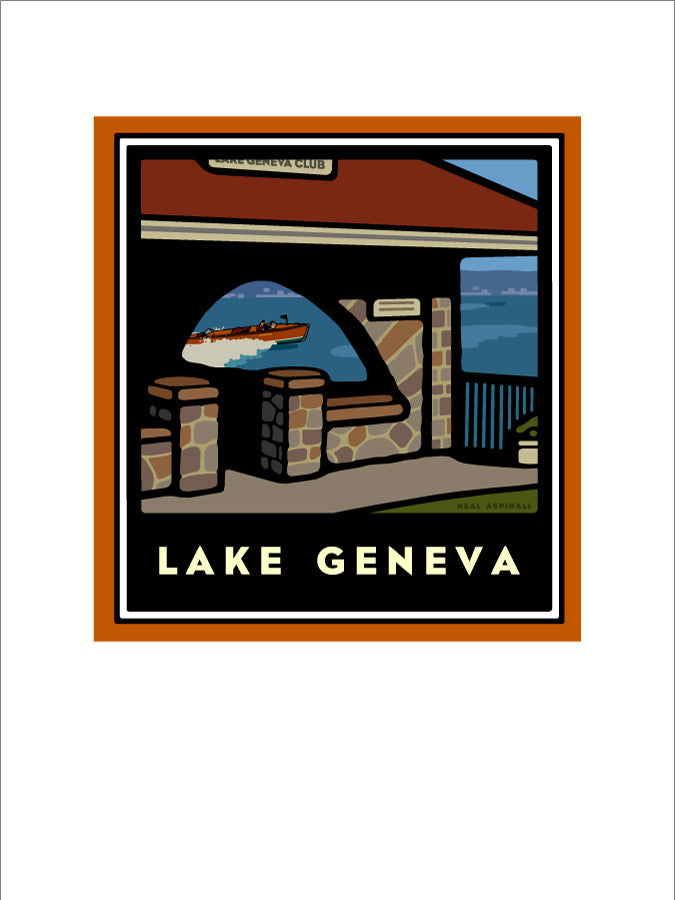 00 Lake Geneva Club Giclee Print