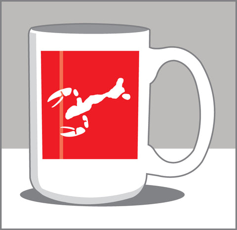 0000 Lake/Lobster Boil Icon 15 oz Coffee Mug