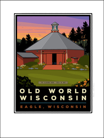 0 A Old World Wisconsin Clausing Barn Digital Studio Print